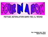 FOUR IN A ROW /L/ PICTURE ARTICULATION GAME for Speech Therapy