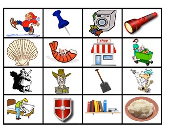 FOUR IN A ROW /SH/ PICTURE ARTICULATION GAME for Speech Therapy
