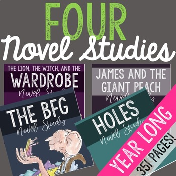 FOUR Novel Studies for the YEAR!