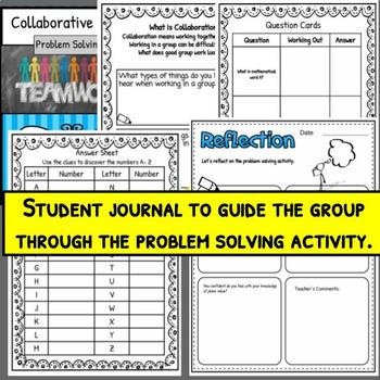 FOUR OPERATIONS Math Problem Solving Collaborative Activity ***CC Aligned***