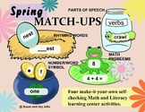 FOUR QUICK AND EASY SPRING MATCH-UPS Literacy and Math Centers