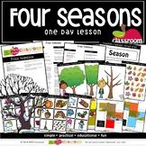FOUR SEASONS Preschool PreK Kindergarten 1-Day Lesson Plan