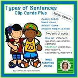 FOUR TYPES OF SENTENCES CLIP CARDS PLUS