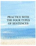 FOUR TYPES OF SENTENCES PRACTICE WORKSHEET
