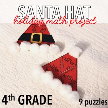 FOURTH GRADE CHRISTMAS MATH PROJECT - SANTA HAT