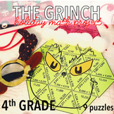 FOURTH GRADE CHRISTMAS MATH PROJECT - THE GRINCH