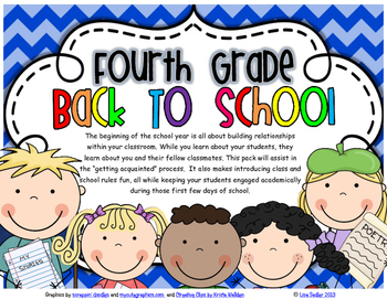FOURTH GRADE - FIRST DAYS (GETTING ACQUAINTED)