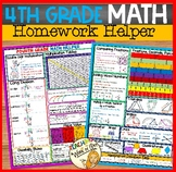 FOURTH GRADE MATH REFERENCE SHEETS
