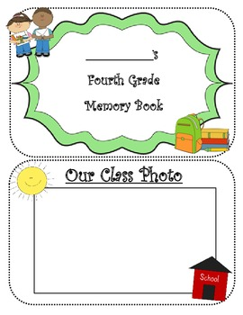 FOURTH GRADE MEMORIES YEARBOOK AUTOGRAPH BOOK ~14 PAGE BOOKLET~ END OF YEAR PDF