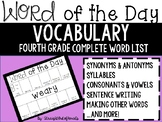 FOURTH GRADE Daily Vocabulary Word of the Day - ALL YEAR