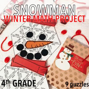 FOURTH GRADE WINTER MATH PROJECT - SNOWMAN / SNOWMEN