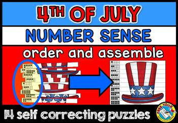 FOURTH OF JULY ACTIVITIES(4TH OF JULY KINDERGARTEN NUMBER SENSE PATRIOTIC CENTER