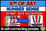 4TH OF JULY ACTIVITIES KINDERGARTEN (NUMBER SENSE CENTER PUZZLES)
