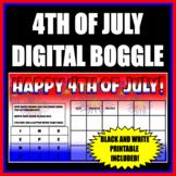 FOURTH OF JULY DIGITAL/PRINTABLE BOGGLE - FUN WORD WORK