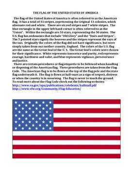 FOURTH OF JULY:  LESSON AND ACTIVITIES (NOT GRADE SPECIFIC)