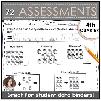 Kindergarten Math Assessments for FOURTH QUARTER