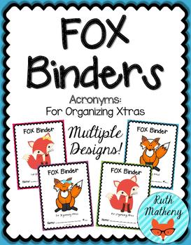 FOX Binder {Student Organization Folder}