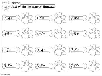 FOXY NO Prep Math Printables