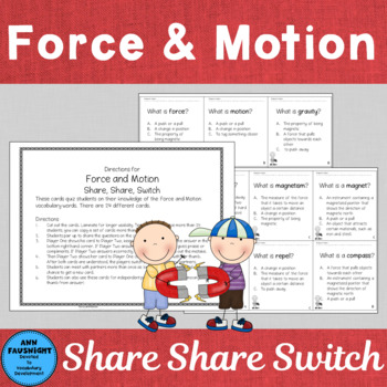 Force and Motion Share, Share, Switch Game