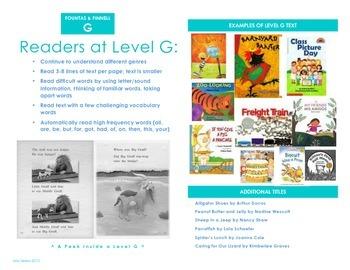 F&P Level G Info Brochure