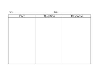 FQR Graphic Organizer