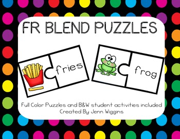 FR Blend Puzzles ~ 14 Puzzles Plus Follow Up Activities