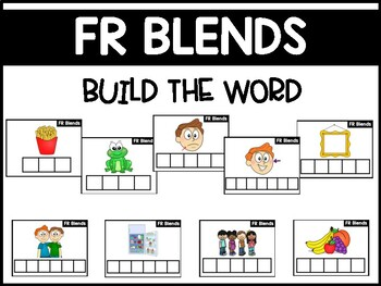 FR Blends Phonics Center:  Build the Word