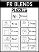 FR Blends Phonics Center:  Picture and Word Match Puzzles
