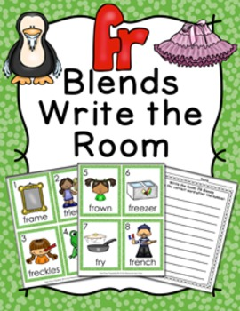 FR Blends Write the Room Activity