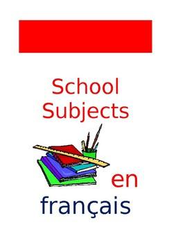 FR Vocabuleux School Subjects