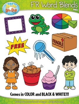 FR Word Blends Clipart Set — Includes 20 Graphics!