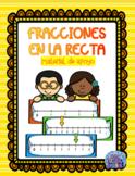 FRACCIONES EN LA RECTA. MATERIAL DE APOYO