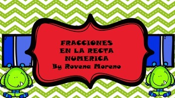 FRACCIONES EN LA RECTA NUMERICA/FRACTION ON THE NUMBER LINE
