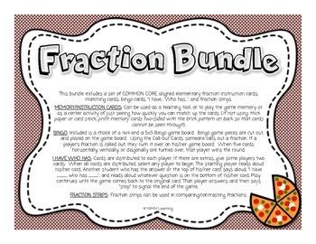 FRACTION Bundle (Memory, Bingo, I have... Who has..., Frac