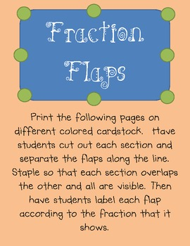 FRACTION FLAPS--Comparing Tool for Fractions!