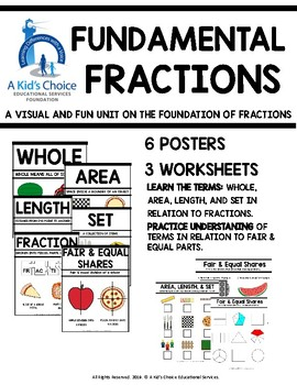 FRACTION FOUNDATIONS: WHOLE, AREA, SET, LENGTH, FAIR & EQUAL SHARES