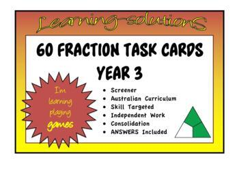FRACTION FUN 2 - 50 TASK CARDS - thirds, sixths and ninths