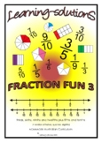 FRACTION FUN 3 - Fraction and Decimals - Year 4 - Workbook/60 Task Cards/Answers