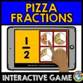 PIZZA FRACTION ACTIVITIES (BOOM CARDS FRACTIONS GAME 3RD GRADE, 2ND AND 1ST