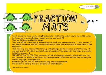 FRACTION MATS - SHARING EQUALLY USING A FRACTION MAT