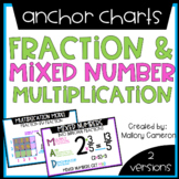 FRACTION & MIXED NUMBER MULTIPLICATION ANCHOR CHARTS