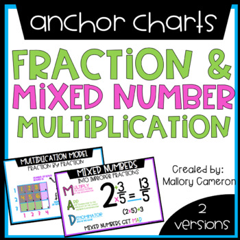 Fraction And Mixed Number Multiplication Anchor Charts Tpt