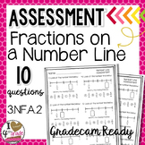 FRACTION NUMBER LINE 10 question GRADECAM TEST:  CCSS 3.NF