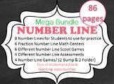FRACTION NUMBER LINE MEGA BUNDLE 83 pages  CCSS 3.NF.A.2, 3.NF.A.2a, 3.NF.A.2b