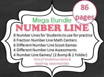 FRACTION NUMBER LINE MEGA BUNDLE 83 pages  CCSS 3.NF.A.2,
