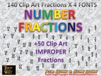 Fraction Clip Art - 600 +