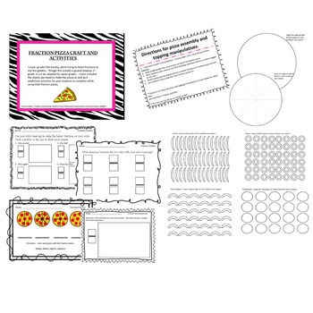 Fractions Fun!!!  Fraction Pizza Craft With Worksheet Activities