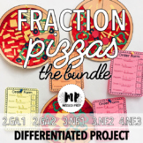 FRACTION PIZZA PROJECT BUNDLE: differentiated 2nd, 3rd, 4th grade