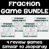 Fraction Games BUNDLE (4 editable games similar to Jeopardy)