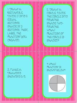 FRACTION TASK CARDS-BEGINING LEVEL